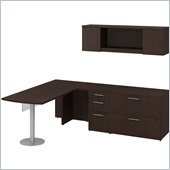 BBF 300 Series 72 L-Shape Peninsula Desk Set in Mocha Cherry