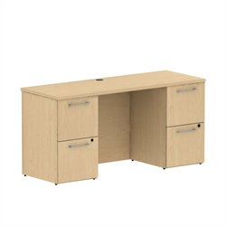 BBF 300 Series 60 Double Pedestal Credenza in Natural Maple
