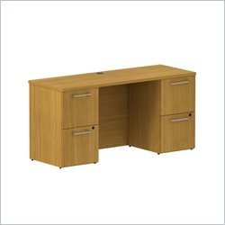 BBF 300 Series 60 Double Pedestal Credenza in Modern Cherry