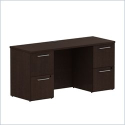 BBF 300 Series 60 Double Pedestal Credenza in Mocha Cherry