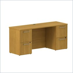 BBF 300 Series 66 Double Pedestal Credenza in Modern Cherry