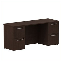 BBF 300 Series 66 Double Pedestal Credenza in Mocha Cherry