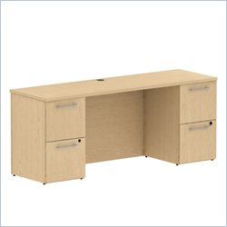 BBF 300 Series 72 Double Pedestal Credenza in Natural Maple