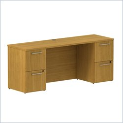 BBF 300 Series 72 Double Pedestal Credenza in Modern Cherry