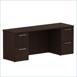 BBF 300 Series 72 Double Pedestal Credenza in Mocha Cherry