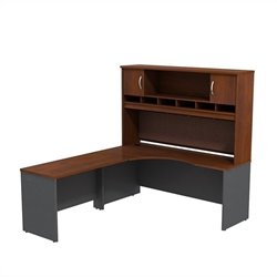 Bush BBF Series C 72W x 24D LH Corner Desk with Hutch in Hansen Cherry