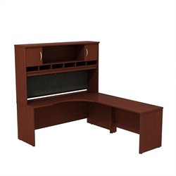 Bush BBF Series C 72W x 24D RH Corner Desk with Hutch in Mahogany