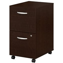 Bush BBF Series C 2Dwr Mobile Pedestal (Assembled) in Mocha Cherry