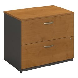 Bush BBF Series C 36W 2Dwr Lateral File (Assembled) in Natural Cherry