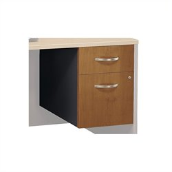 Bush BBF Series C 2 Drawer 3/4 Pedestal (Assembled) in Natural Cherry