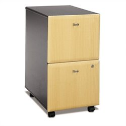 Bush BBF Series A 2Dwr Mobile Pedestal (Assembled) in Beech