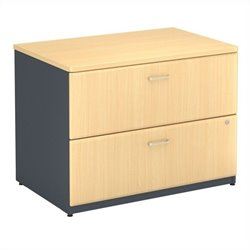 Bush BBF Series A 36W 2Dwr Lateral File (Assembled) in Beech