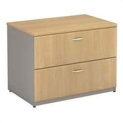 Bush Business Furniture Series A Assembled Lateral File in Light Oak