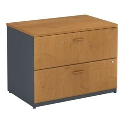 Bush BBF Series A 36W 2Dwr Lateral File (Assembled) in Natural Cherry