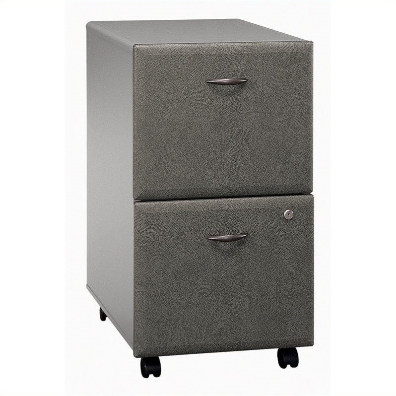 Bush Business Furniture Series A Mobile Pedestal (Assembled) Pewter