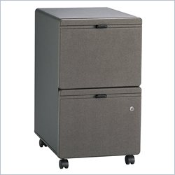 Bush BBF Series A 2Dwr Mobile Pedestal (Assembled) in Slate