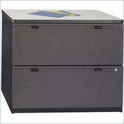 Bush BBF Series A 36W 2Dwr Lateral File in Slate