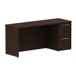 Bush BBF 300 Series 66W x 22D Single Pedestal Credenza Kit in Mocha Cherry