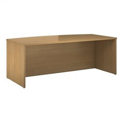 Bush BBF 300 Series 72W x 36D Bowfront Shell Desk Kit in Modern Cherry