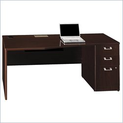 Bush BBF Quantum 72W RH Single Pedestal Desk 3Dwr in Harvest Cherry