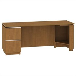 Bush BBF Milano2 72W LH Single Pedestal Credenza 2Dwr in Golden Anigre