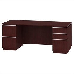 Bush BBF Milano2 72W Double Pedestal Desk in Harvest Cherry