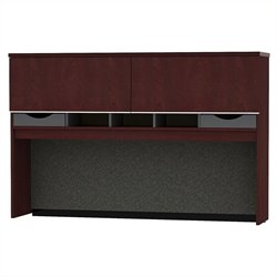 Bush BBF Milano2 66W Credenza Hutch in Harvest Cherry