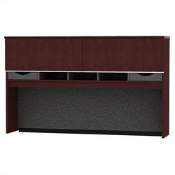 Bush BBF Milano2 72W Credenza Hutch in Harvest Cherry