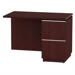 Bush BBF Milano2 42W RH Single Pedestal Return 2Dwr in Harvest Cherry