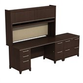 BBF Enterprise 72 Double Pedestal Desk with Hutch and Lateral File