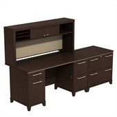 BBF Enterprise 60 Double Pedestal Desk with Hutch and Lateral File