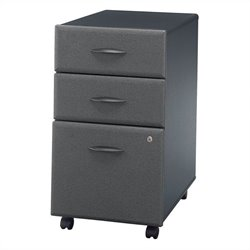 Bush Business Furniture Series A Assembled Mobile Pedestal in Slate