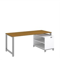 Bush BBF Momentum 72W x 30D Desk with 24H Open Storage in Modern Cherry