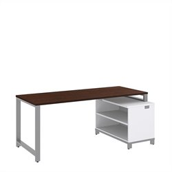 Bush BBF Momentum 72W x 30D Desk with 24H Open Storage in Mocha Cherry