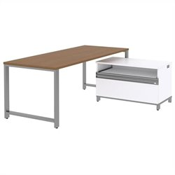 Bush BBF Momentum 72W X 30D Desk with 24H Piler Filer in Modern Cherry