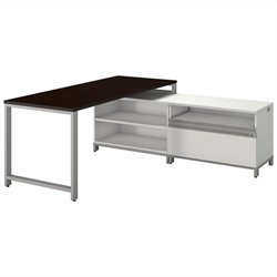 Momentum 72W X 30D Desk with 24H Open Storage and 24H Piler Filer