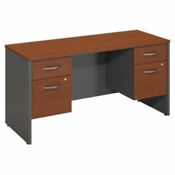 Series C Collection 60W X 24D Credenza Shell with 2 Pedestals