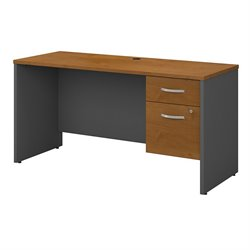 Series C Collection 60W X 24D Credenza Shell with 2 Pedestals 1