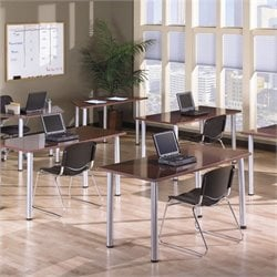 Bush BBF Aspen Office Rectangle and Trapezoid Tables in Hansen Cherry
