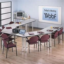 Bush BBF Aspen Office Conference and Gathering Table Set in White Spectrum