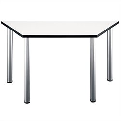 Bush BBF Aspen Office Gathering Table Set in White Spectrum
