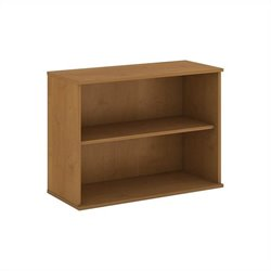 Bush Business Furniture 30H 2 Shelf Bookcase in Natural Cherry