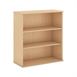 Bush Business Furniture 48H 3 Shelf Bookcase in Natural Maple