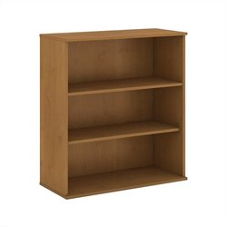 Bush BBF 48H 3 Shelf Bookcase in Natural Cherry