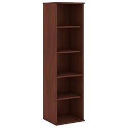 Bush BBF 66H 5 Shelf Narrow Bookcase in Hansen Cherry