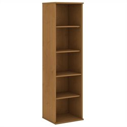 Bush BBF 66H 5 Shelf Narrow Bookcase in Natural Cherry
