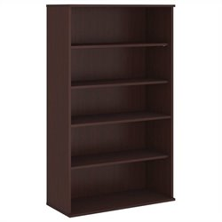 Bush Business Furniture 66H 5 Shelf Bookcase in Harvest Cherry