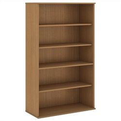 Bush Business Furniture 66H 5 Shelf Bookcase in Modern Cherry