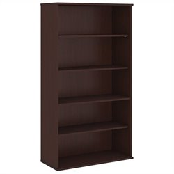 Bush Business Furniture 72H 5 Shelf Bookcase in Harvest Cherry