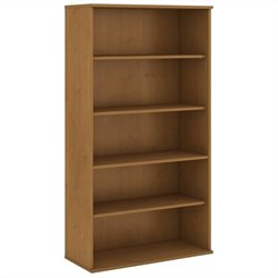 Bush Business Furniture 72H 5 Shelf Bookcase in Natural Cherry